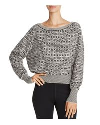 Theory Multicolor Relaxed Boat Neck Jacquard Sweater