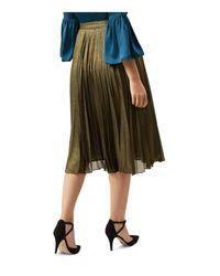 Hobbs - Laila Pleated Metallic Skirt - Lyst