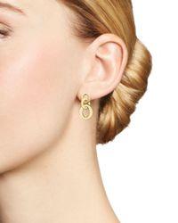 Roberto Coin 18k Yellow Gold Chic & Shine Circle Earrings