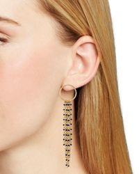 Rebecca Minkoff - Metallic Waterfall Beaded Fringe Drop Earrings - Lyst