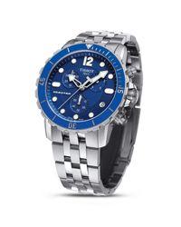 Tissot - Blue Men's Swiss Chronograph Seastar 1000 Stainless Steel Bracelet Watch 45mm T0664171104700 for Men - Lyst