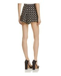 Aqua - Black Printed High-waist Shorts - Lyst