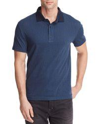 W.r.k. - Blue Leaf Print Polo Shirt for Men - Lyst