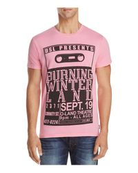 DIESEL - Pink T-joe-qj Burning Winter Land Concert Tee for Men - Lyst