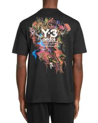 Y-3 Black Y - 3 Adidas Toketa Graphic Logo Tee for men