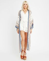 LOST AND WANDER Multicolor Lost + Wander Tulum Printed Kimono