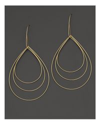 Lana Jewelry - Metallic 14k Yellow Gold Large Three Tier Drop Earrings - Lyst