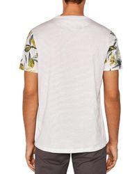 Ted Baker - Gray Bark Floral Sleeve Print Tee for Men - Lyst