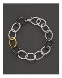 Gurhan Multicolor Sterling Silver & 24k Gold Hoopla Link Bracelet