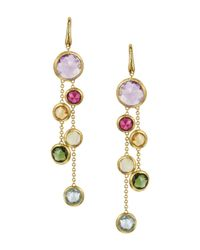 Marco Bicego   Metallic Jaipur 18k Yellow Gold And Multi-stone Double Drop Earrings   Lyst
