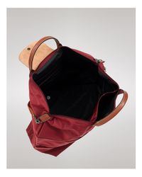 Longchamp | Red Le Pliage Expandable Travel Duffel Weekender | Lyst