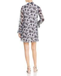 Tory Burch Multicolor Livia Textured Silk Print Dress