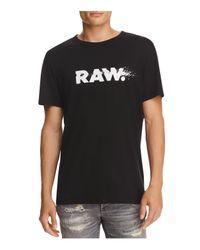 G-Star RAW - Black Broaf Crewneck Short Sleeve Tee for Men - Lyst
