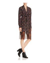 McQ Alexander McQueen | Multicolor Vintage Floral Lace-hem Peasant Dress | Lyst