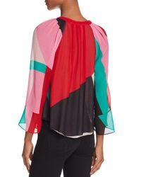 Joie - Multicolor Quinlynn Colorblock V-neck Top - Lyst