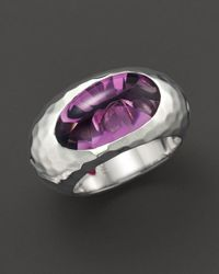 "Roberto Coin | Metallic Fifth Season By Sterling Silver ""capri Plus"" Amethyst Ring 