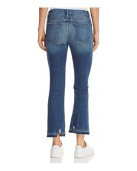 FRAME Blue Le Crop Mini Boot Jeans In Roberts