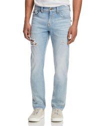 True Religion Blue Geno Slim Straight Fit Jeans In Jet Smoke for men