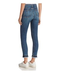 Rag & Bone Blue Hana Released-hem Skinny Jeans In Croyden