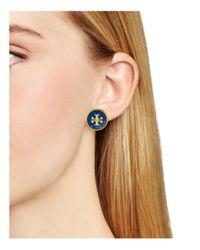 Tory Burch - Multicolor Logo Stud Earrings - Lyst