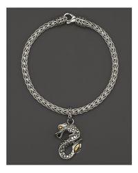 John Hardy | Metallic Naga 18k Gold And Sterling Silver Dragon Charm Bracelet | Lyst