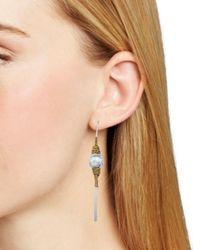 Robert Lee Morris Metallic Wire Threader Earrings