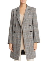 Theory Gray Plaid Double-breasted Jacket