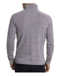 Robert Graham - Gray Easy Rider Quarter-zip Pullover for Men - Lyst