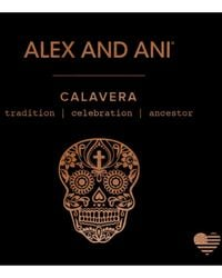 ALEX AND ANI - Metallic Calavera Expandable Wire Bangle - Lyst