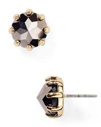 Rebecca Minkoff Metallic Rhinestone Stud Earrings