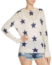 Aqua - Multicolor Star Hooded Sweater - Lyst