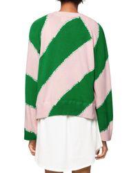 Zadig & Voltaire Green Lea Striped Sweatshirt