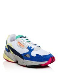 Adidas Women's Falcon Color Block Low Top Dad Sneakers