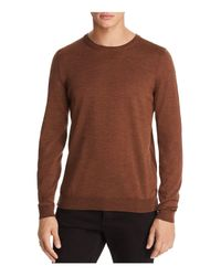 BOSS - Brown Leno Crewneck Sweater for Men - Lyst