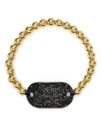 Aqua - Metallic Black Stretch Bracelet - Lyst