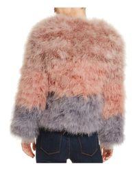 Pellobello Multicolor Fluffy Feather Fever Multi-color Jacket