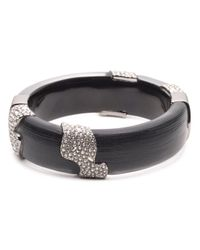 Alexis Bittar - Black Crystal Accented Lucite Hinge Bracelet - Lyst