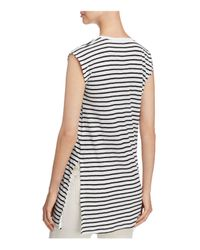 Eileen Fisher - Multicolor Seaside Striped Organic Linen Tunic - Lyst