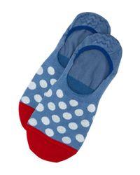 Paul Smith - Blue Bright Spot No-show Socks for Men - Lyst