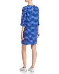 Equipment - Blue Aubrey Printed Silk Dress - Lyst