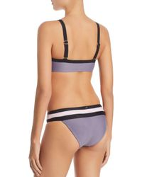 Pilyq Blue Banded Color-block Bikini Bottom