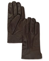 Bloomingdale's Brown Cashmere Lined Leather Gloves for men