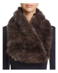 Maximilian - Brown Sable Fur Knit Scarf - Lyst