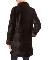 Maximilian Black X Trilogy Reversible Sheared Mink Coat