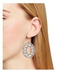 Miguel Ases Metallic Cultured Freshwater Pearl Oval Drop Earrings