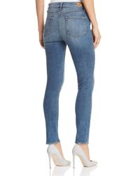 PAIGE Blue Hoxton Skinny Ankle Jeans In Sawyer
