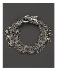 John Hardy - Metallic Naga 18k Gold And Silver Dragon Bracelet - Lyst