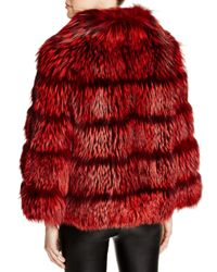 Maximilian Red Maximilian Nafa Fox Fur Coat