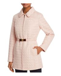 Kate Spade Pink Bow Quilted Coat
