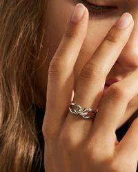 Shinola Metallic Sterling Silver Lug Ring